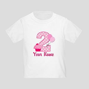 2nd Birthday Cupcake Toddler T Shirt