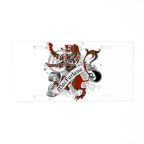 MacFarlane Tartan Lion Aluminum License Plate