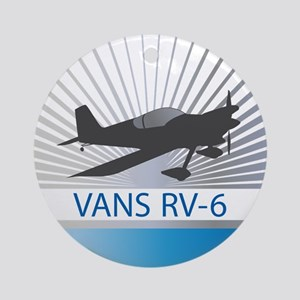 Aircraft Vans RV-6 Ornament (Round)