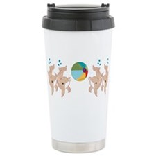 Dolphins a Stainless Steel Travel Mug