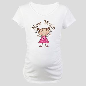New Mum Stick Figure Maternity T-Shirt