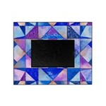 Blue Quilt Watercolor Picture Frame