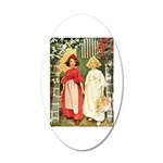 Snow White & Rose Red 20x12 Oval Wall Decal