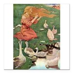 The Goose Girl Square Car Magnet 3
