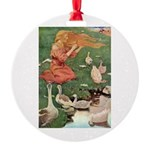 The Goose Girl Round Ornament