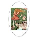 The Goose Girl Sticker (Oval 50 pk)
