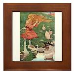 The Goose Girl Framed Tile