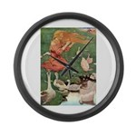 The Goose Girl Large Wall Clock