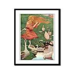 The Goose Girl Framed Panel Print