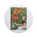 The Goose Girl Ornament (Round)