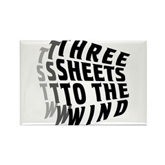 Three Sheets to the Wind Rectangle Magnet (10 pack