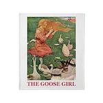 The Goose Girl Throw Blanket