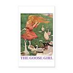 The Goose Girl Rectangle Car Magnet