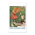 The Goose Girl 20x12 Wall Decal