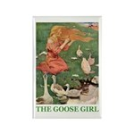 The Goose Girl Rectangle Magnet