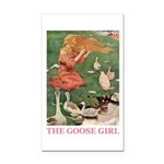 The Goose Girl Rectangle Car Magnet