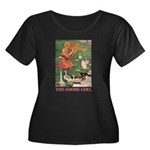 The Goose Girl Women's Plus Size Scoop Neck Dark T