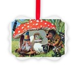 Gnome Outside his Toadstool Cottage Picture Orname