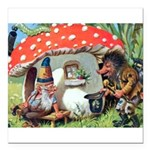 Gnome Outside his Toadstool Cottage Square Car Mag