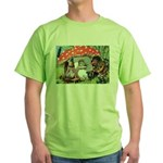 Gnome Outside his Toadstool Cottage Green T-Shirt