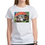 Gnome Outside his Toadstool Cottage Women's T-Shir