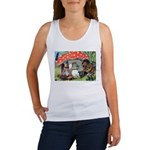Gnome Outside his Toadstool Cottage Women's Tank T