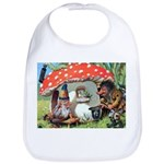 Gnome Outside his Toadstool Cottage Bib