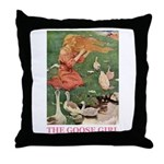The Goose Girl Throw Pillow