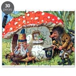 Gnome Outside his Toadstool Cottage Puzzle