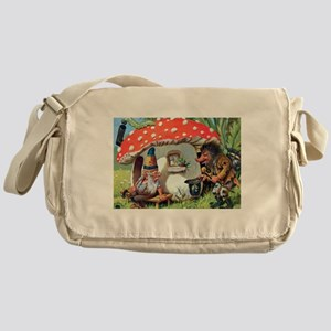 Gnome Outside his Toadstool Cottage Messenger Bag
