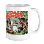 Gnome Outside his Toadstool Cottage Large Mug