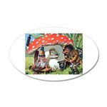 Gnome Outside his Toadstool Cottage 35x21 Oval Wal