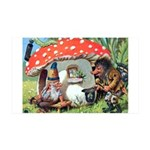 Gnome Outside his Toadstool Cottage 35x21 Wall Dec