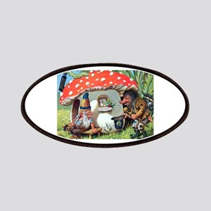 Gnome Outside his Toadstool Cottage Patches