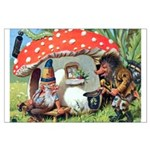 Gnome Outside his Toadstool Cottage Large Poster