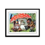 Gnome Outside his Toadstool Cottage Framed Panel P