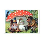 Gnome Outside his Toadstool Cottage Mini Poster Pr