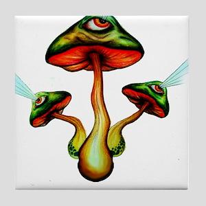 Mushroom Vision Tile Coaster