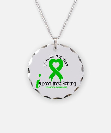 With All My Heart Lymphoma Necklace