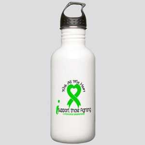 With All My Heart Lymphoma Stainless Water Bottle