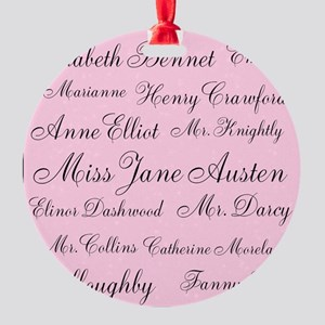 Forever Jane (pink) Round Ornament