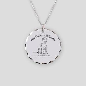 Vintage Labrador Necklace Circle Charm
