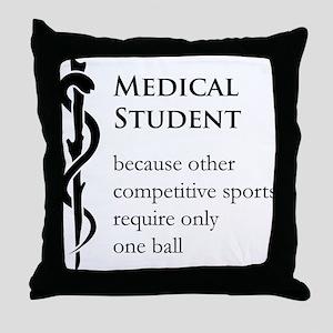 Medical Student Because... Throw Pillow