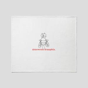 Determined Drosophila Throw Blanket