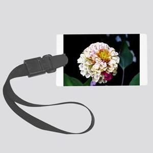 Peppermint Zinnia Large Luggage Tag