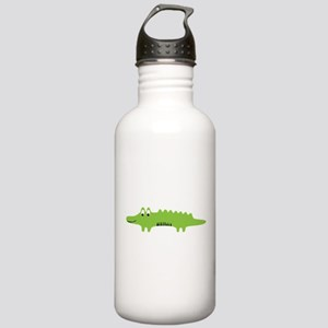 Happy Cute Gator Stainless Water Bottle 1.0L