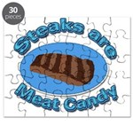 Steaks are Meat candy 2 Puzzle