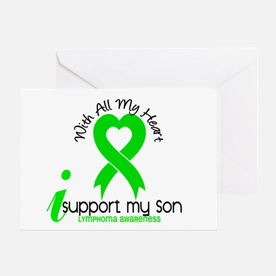 With All My Heart Lymphoma Greeting Card