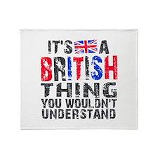 British Thing Throw Blanket