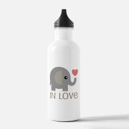 Couples In Love Elephant Water Bottle